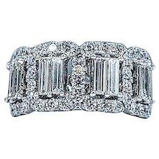 Exceptional Baguette Cut Diamond Ring - 3 Carats