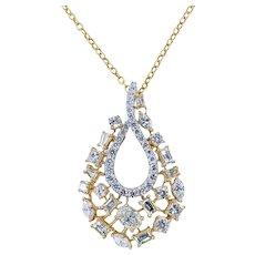 Luxurious Multi Cut Diamond Pendant