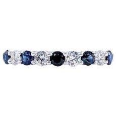 Timeless Sapphire & Diamond Wedding Band