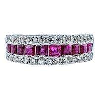 Beautiful Ruby & Diamond Anniversary Ring