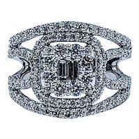 Sophisticated Multi-Cut Diamond Ring