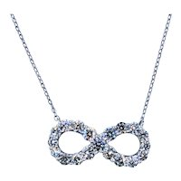 Brilliant Cut Diamond Infinity Symbol Necklace