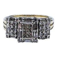 Unique Baguette & Princess Cut Diamond Statement Ring