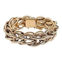 Dramatic Solid Gold Chain Mail Bracelet