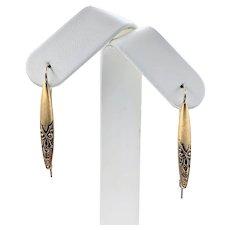 Understated Victorian 10K Gold Drop Earrings