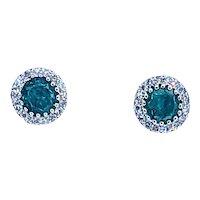 Everyday Emerald & Diamond Stud Earrings