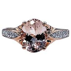 Pastel Morganite & Diamond Dress Ring