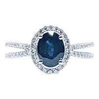 Elegant Sapphire & Diamond Dress Ring