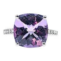Fantastic Amethyst & Diamond Cocktail Ring