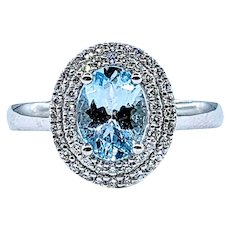 Refined Aquamarine & Diamond Cocktail Ring