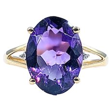 Gorgeous Amethyst & 14K Gold Cocktail Ring