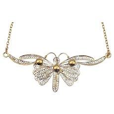 Unique 21K Gold Butterfly Necklace