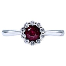 Fine Ruby & Diamond Stacking Ring
