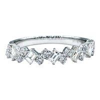 Stylish Multi Cut Diamond Band