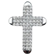 Bold Diamond Pave Cross Pendant