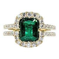 Fine Emerald & Diamond Cocktail Ring