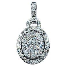 Sparkling Diamond Pave Pendant