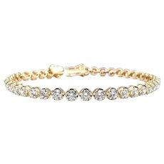 Stunning Brilliant Diamond Tennis Bracelet - 18K Gold