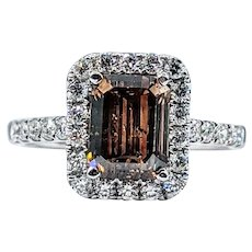 Sophisticated Fancy Color Diamond Engagement Ring