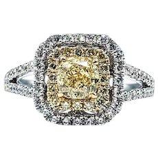 Fabulous Fancy Yellow Diamond Engagement Ring