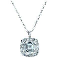 Superb Tiffany & Co. Diamond Pendant Necklace