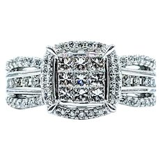 "Flashing Princess Cut Diamond ""Illusion"" Ring"