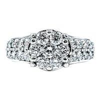 Glittering Diamond Pave & White Gold Dress Ring