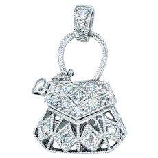 Darling Diamond & 18K Gold Handbag Charm