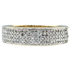 Modern Diamond Micro Pave & Solid Gold Ring