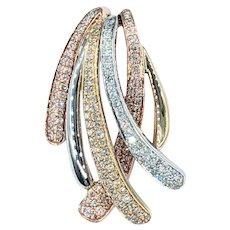 EFFY Cascading Diamond & Tri Gold Pendant