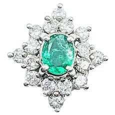 Regal Emerald & Diamond Pendant