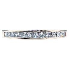 Beautiful Princess Cut Diamond Wedding Band