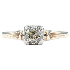 Vintage Old Mine Cut Diamond Solitaire Ring