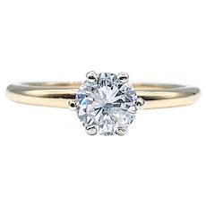Traditional Brilliant Cut Diamond Solitaire Ring