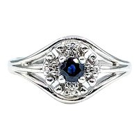Modern Sapphire & Diamond Dress Ring