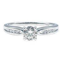 Classic Brilliant Cut Diamond Engagement Ring