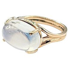 Glowing Moonstone & Solid Gold Ring