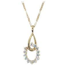 Elegant Diamond & 14K Gold Pendant Necklace