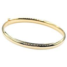 Classic Polished 14K Gold Bangle Bracelet