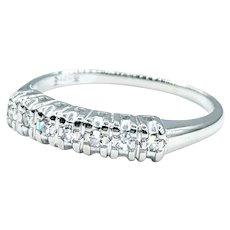 Traditional Round Cut Diamond Wedding Band