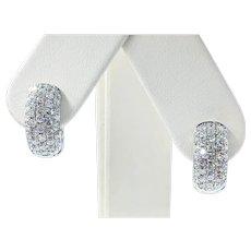 Glittering Diamond Pave Huggie Earrings