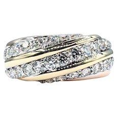 Unique Diamond & Two Tone Gold Ring