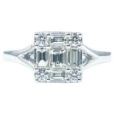 Contemporary Multi-Cut Diamond Fashion Ring
