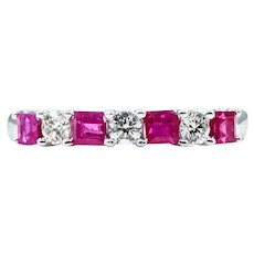Timeless Multi Cut Ruby & Diamond Band