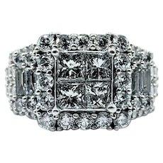 Extravagant Multi Cut Diamond Cocktail Ring