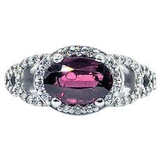 Vivid Tourmaline & Diamond Fashion Ring