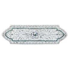 Beautifully Detailed Art Deco Diamond Brooch / Pin