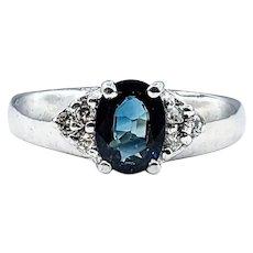 Gorgeous Sapphire & Diamond Ring