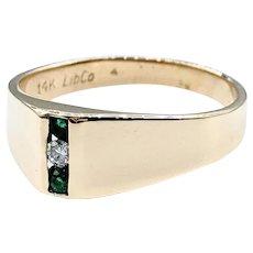 Modern Emerald & Diamond Fashion Ring