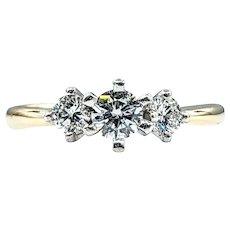 Attractive Three Stone Diamond Engagement Ring